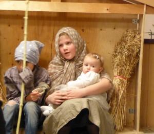 Josef og Maria i stallen