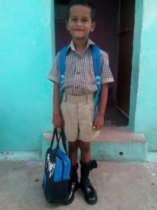 Første skoledag for Prakasj